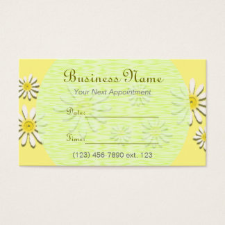 Appointment Card I/ U pick Color Whimsical Daisy