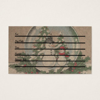 Appointment Card (winter)