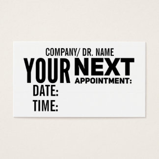 Appointment Reminder Cards | Generic