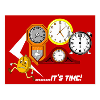 Appointment Reminder Clocks It's Time POSTCARD