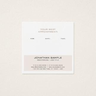 Appointment Reminder Elegant Modern Design Trendy Square Business Card