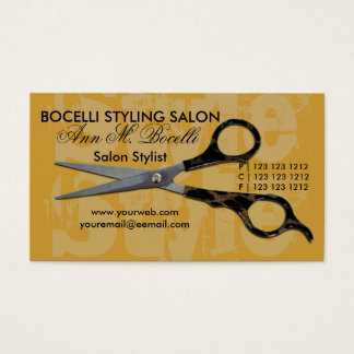 Appointment Salon Spa Modern All Over Typography Business Card