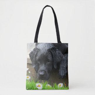 Appreciate the Little Things - Black Labrador Tote Bag