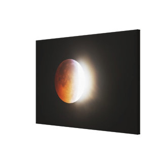 Approching the Total Eclipse of the Moon Gallery Wrap Canvas