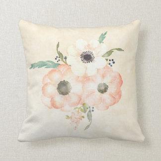 Apricot Anemones Pretty Decorative Floral Cushion