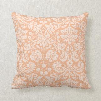Apricot Color Damask Pattern Cushion