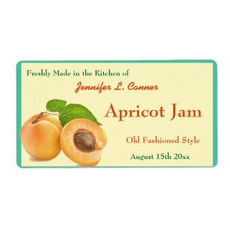 Apricot Jam or Preserves Canning Jar