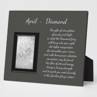 April Birthstone Diamond Plaque