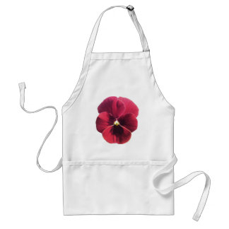 Apron - Dark Red Pansy