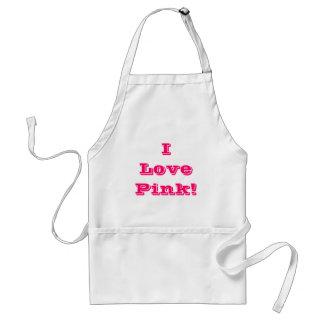 Apron I Love Pink