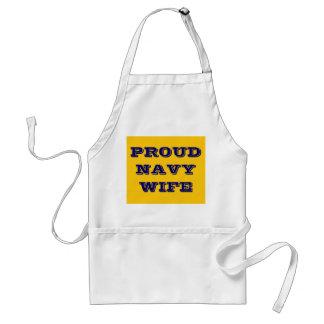 Apron Proud Navy Wife