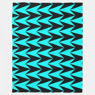 Aqua and Black blanket fleece