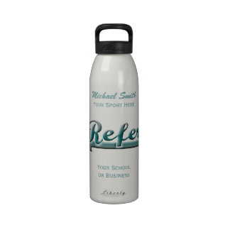 Aqua and Gray Star Referee Liberty Bottle Reusable Water Bottles