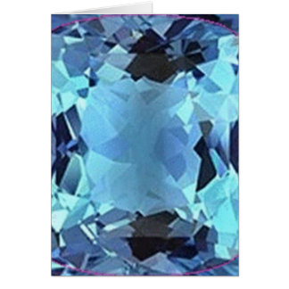 Aqua Aquamarine gem Gifts by Sharles Card