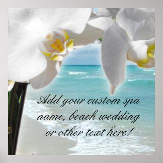Aqua Beach Orchid Print