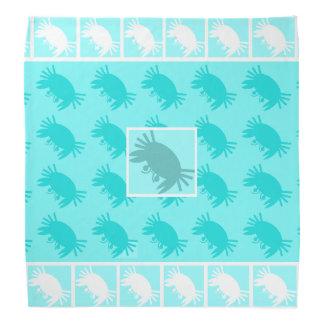 Aqua Blue Crabs Tropical Bandanna