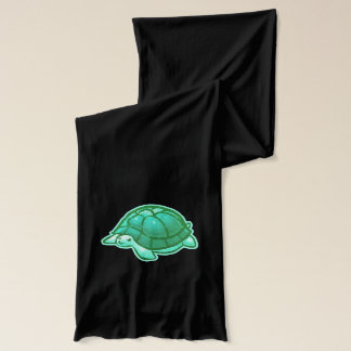 Aqua Blue-Green Cartoon Baby Turtles Scarf