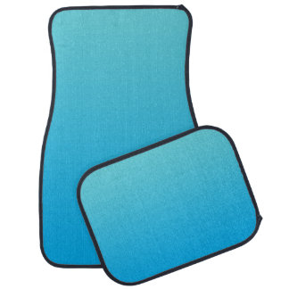 """""""Aqua Blue Ombre"""" Car Mat"""
