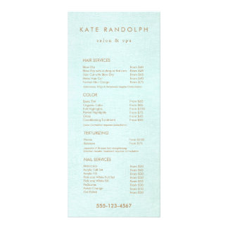Aqua Blue Salon Spa Price List Service Menu