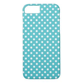 Aqua Blue Small Polka Dot iPhone 7 case