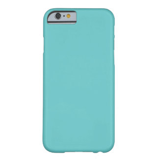 Aqua Blue Solid Background Color 66CCCC Barely There iPhone 6 Case