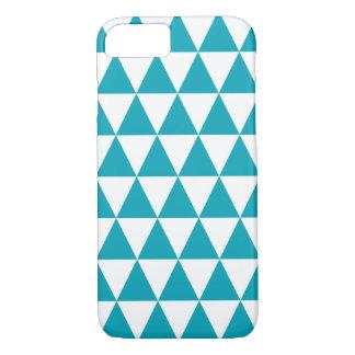 Aqua Blue Triangle Pattern iPhone 7 Case