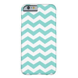 Aqua Blue Zig Zag Pattern Barely There iPhone 6 Case