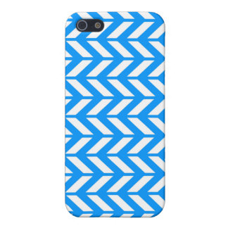Aqua Chevron 4 Case For iPhone 5/5S