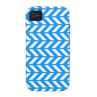 Aqua Chevron 4 Case-Mate iPhone 4 Covers
