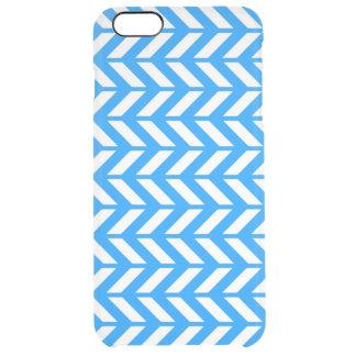 Aqua Chevron 4 Clear iPhone 6 Plus Case