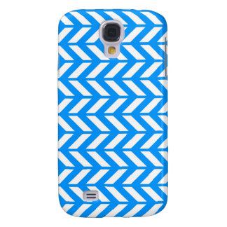 Aqua Chevron 4 Galaxy S4 Case