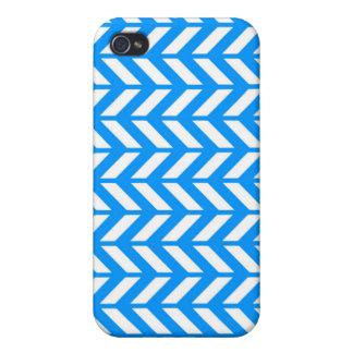 Aqua Chevron 4 iPhone 4/4S Cases