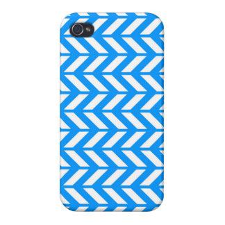 Aqua Chevron 4 iPhone 4 Case