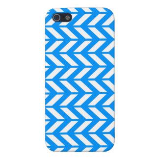 Aqua Chevron 4 iPhone 5/5S Cover