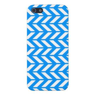 Aqua Chevron 4 iPhone 5 Covers