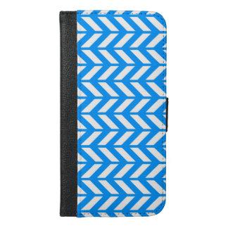 Aqua Chevron 4 iPhone 6/6s Plus Wallet Case