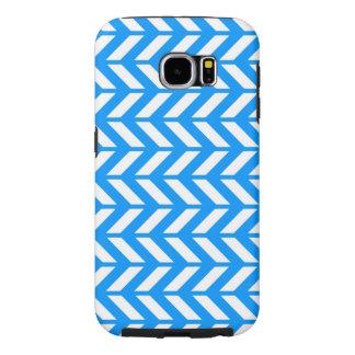 Aqua Chevron 4 Samsung Galaxy S6 Cases