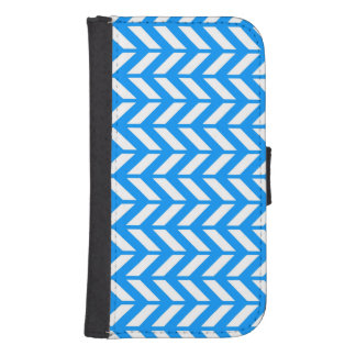 Aqua Chevron 4 Samsung S4 Wallet Case