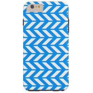 Aqua Chevron 4 Tough iPhone 6 Plus Case