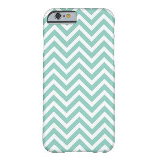 Aqua Chevron Barely There iPhone 6 Case