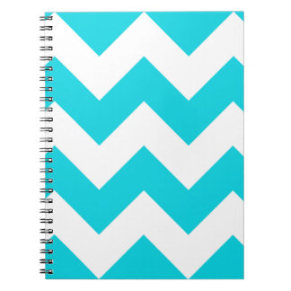 Aqua Chevron Zigzag Notepad Spiral Notebook