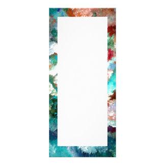 Aqua Floral Fantasy Rack Cards