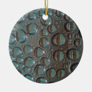 Aqua Grey Funky Waterdroplet pack Christmas Ornament