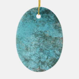 Aqua Grunge Texture Christmas Ornament