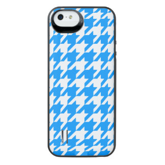 Aqua Houndstooth 1 iPhone SE/5/5s Battery Case