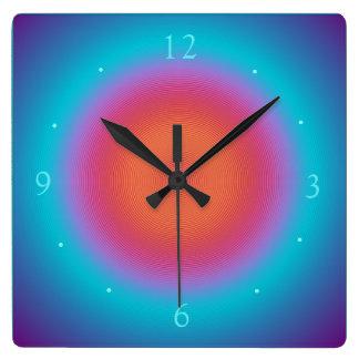 Aqua Illuminated Orange Pink Design > Wall Clocks