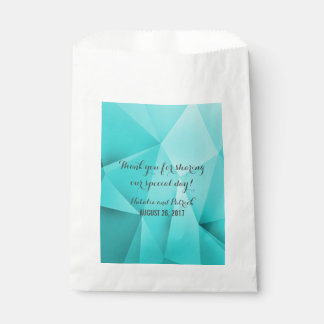 Aqua Jewel Tones Wedding Favor Bags Favour Bags