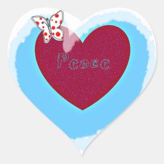 aqua Peace Heart gifts Heart Sticker