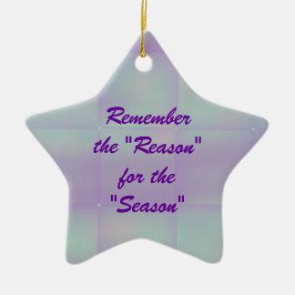 Aqua Plaid Star-customize any occasion Christmas Ornament