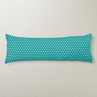 Aqua Polka Dots Body Cushion